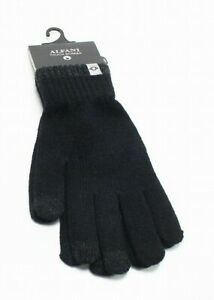 Alfani Men's Black One Size Winter Gloves Space Dyed Cozy Knit Warmth $30 #366