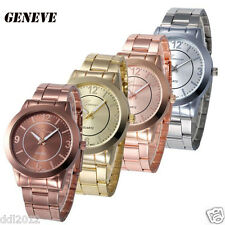 Fashion Classic Women Luxury Quartz Stainless Steel Analog Wrist Watch Bracelet