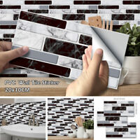 9pcs 3D Brick Tile Sticker Self-adhesive Wall Sticker Kitchen Bathroom Home