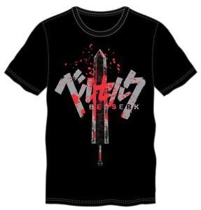 **Legit** Berserk Bloody Guts Dragon Slayer Sword Authentic Anime T-Shirt TS50E1