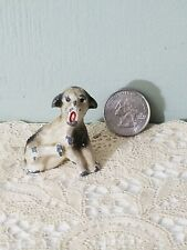Antique Miniature Fox or boston Terrier Dog scratching his neck