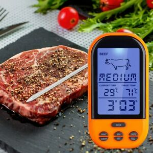 Wireless Remote Digital Thermometer Timer Cooking Meat Thermometer Probe WL
