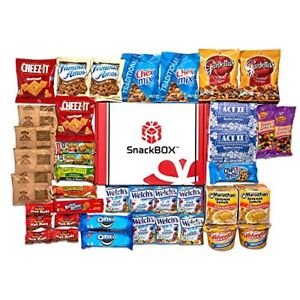 Snack Package for College Students Military Birthday or Back to School 40 Count