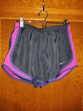 Women's Nike Dri-fit Black & Purple Running Shorts Size Medium