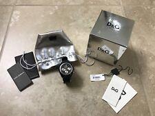 Authentic Dolce & Gabbana - D&G Time Black Unisex Watch, Retail $275