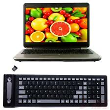 2.4GHZ Wireless Waterproof Flexible Roll Up Silicone Rubber Portable Keyboard DI
