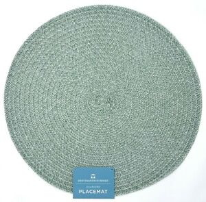 "Basket Weave 15"" Round Polyester Polypropylene Placemats Set of 4"
