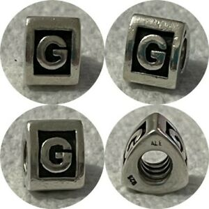 PANDORA 3 SIDED LETTER G CHARM REF 790323G 925 ALE DISCONTINUED