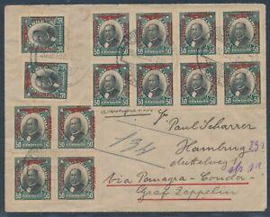 Zeppelin Südamerikafahrt 1932 Brief ab Chile Friedrichshafen Hamburg (4450)