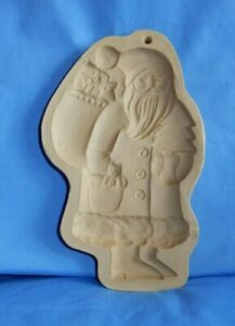 Brown Bag Cookie Art Mold 1983 Santa Claus