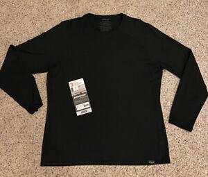 Patagonia - Black / Merino Wool Midweight Baselayer / Men's XL