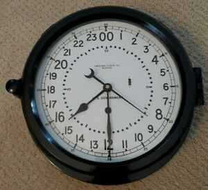 Vintage Chelsea Military Clock-Ship- Missle Silo? 12E Movement 1966. With key.