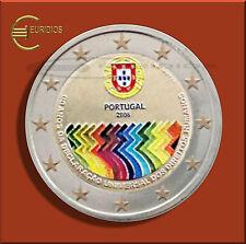 "2 Euro Gedenkmünze Portugal 2008, "" Menschenrechte "" coloriert, Vers. 7"