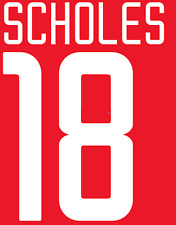 Manchester United Scholes Nameset Shirt Soccer Number Letter Heat Football 02 H
