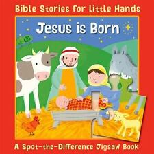 Jesus Is Born : A Spot-the-Difference Jigsaw Book by Lois Rock board book