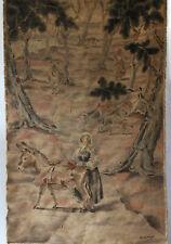 Antikes Wandbild Luise Klempt
