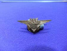 vtg badge raf air force wings union flag lapel brass 1940s sweetheart ww