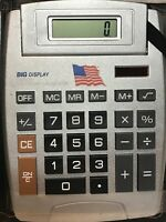Big Display Calculator Flip Up Screen 8 Digits Solar Powered With Case
