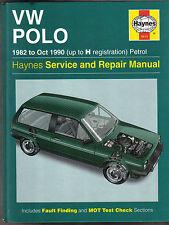 VW Volkswagen Polo 1982 - Oct 90 Haynes Workshop Manual Hatchback Coupe Classic