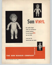 1952 PAPER AD The Sun Rubber Doll Co Sunruco Boy Girl Baby Dolls