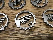 WarHammer Objective Markers - Imperial Eagle Cog - Stainless Steel - 30mm