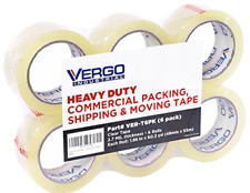 Vergo Industrial Heavy Duty Clear Packing Tape 27mil For Moving Packaging And 6