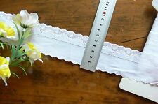 Cambric 25mm Delicate Special Lace WHITE 50mm Total Wide 2 Metres 6856