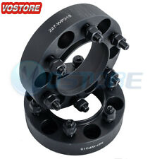 2x 1.5'' 6 Lug Black Hubcentric Wheel Spacers Adapters 6x5.5 for Chevy Silverado