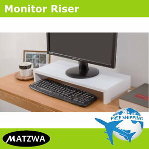 Desktop Monitor Riser Computer Laptop Stand Ergonomic Mount by MATZWA (3 Colors)
