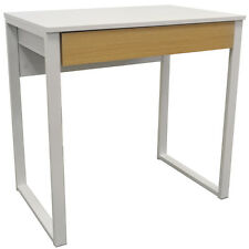 Compact Office Workstation / Computer Desk / Dressing Table - White / Oak OF1044