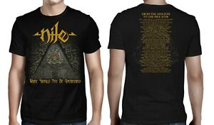 NILE cd cvr WHAT SHOULD NOT BE UNEARTHED GOLD Official SHIRT LRG New 2018 tour