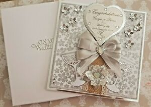 Wedding Card Personalised Large Handmade 8x8 inch 3D Bespoke card and boxed