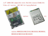 "128GB 1.8"" SSD replacement MK8022GAA MK1231GAL MK1634GAL for iPod classic"