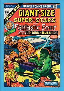 GIANT-SIZE SUPER-STARS # 1 FN 6.0 FANTASTIC FOUR_THING vs HULK BATTLE_CENTS_1974