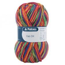 Um28 Patons Fab DK Acrylic Knitting Yarn 400g Rainbow Self Patterning