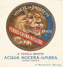 Y0407 Ferro China Bisleri - Pubblicità d'epoca - Advertising