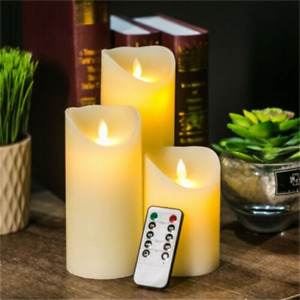 Remote Control Flameless LED Wax Candles Flickering Battery Tea Light Wedding
