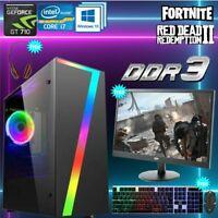 ULTRA FAST Gaming PC Tower Intel Quad Core i7 16GB RAM 1TB HDD 2GB GT710 Win 10