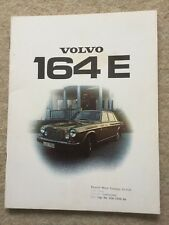 VOLVO 164 E Car Sales Brochure 1974 #1034-74 with garage stamp
