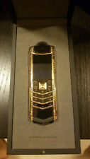 VERTU SIGNATURE S - LIMITED EDITION DECO 18ct ROSE GOLD WITH DIAMONDS PHONE