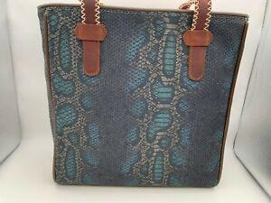 Brand New CONSUELA RATTLER CLASSIC TOTE Snake Print Purse Bag