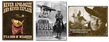 John Wayne TIN SIGN LOT metal poster vintage western wall art home bar decor NEW