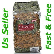 Kirkland Signature Almonds U.S. #1 Supreme Whole 3 lb Large Bag (48 oz) Free New