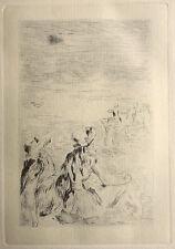 Sur la plage à Berneval – gravure Renoir