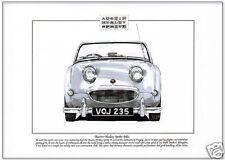 AUSTIN HEALEY SPRITE Mk1 - Fine Art Print  A4 size - Frogeye  British Sports Car