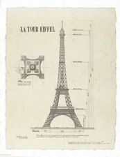 ART PRINT La Tour Eiffel Eiffel Tower 25x31 Yves Poinsot