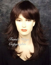 Long Layered Flip Waves Wig In Dark Brown Wig From Fumi Wigs UK