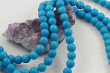 "16"" Howlite Turquoise Loose Beads Round 10mm SLEEPING BEAUTY BLUE"