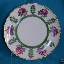 Double Hammer Stamp Silesia Pink Rose Dessert Plate/s