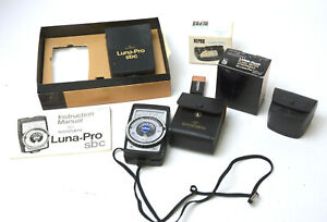 Gossen Luna Pro SBC Light Meter With Accesories - Used with Box , Clean